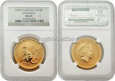 Australia 2009 Kangaroo $100 1 oz Gold NGC MS69