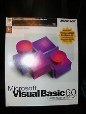 Microsoft Visual Basic 6.0 Professional VB 6 PRO 203-00768 FULL-VERSION BOX