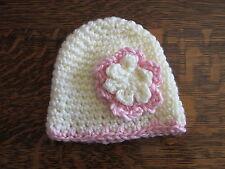 Girls Baby Preemie Hats Caps in various colors- Handmade Crocheted baby hats
