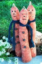 EXTREME PRIMITIVE PUMPKIN MAN MAILED PATTERN!! QUICK AND EASY! PERFECTLY PRIM