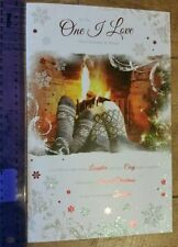 Luxury Large To The One I Love Christmas Card (Beautiful Words)