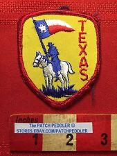 Vtg TEXAS Jacket Patch Souvenir ~ White Horse & Rider Lone Star State Flag  61C7