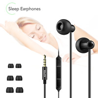 AGPTEK Sleeping Headphones Noise Isolating Earphones with Mic & Volume Control