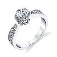 925 Sterling Silver CZ Engagement Wedding Ring Solitare Cubic Zirconia FY037
