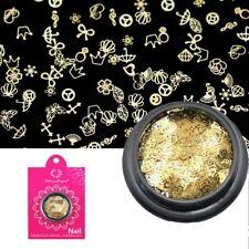400x*Hollow Metal Studs Rivets Smile Cross Diamond Crown Nail Glitter Sequins HQ