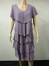 NEW - Patra - Size 16 - Short Sleeve Tiered Lavender Dress - Wiseria Purple $109