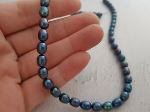 Freshwater pearls, Jewellery Maker Beads, Rice Pearl's, Drops, Peacock