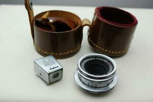 Akarette Xenagon 35mm f3.5 lens + viewfinder and case