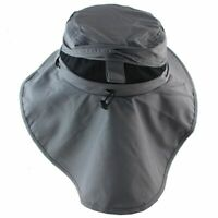 Breathable Summer Hat With Neck Flap For Men Sun Hats Outdoor Caps UV Protection