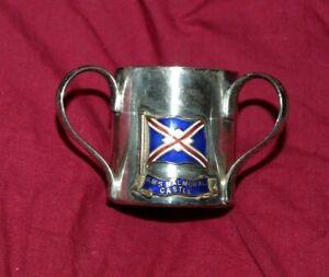 BALMORAL CASTLE (UNION-CASTLE LINE) SOUVENIR BOUGHT ON BOARD 3-HANDLED CUP.