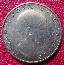 1938  Yugoslavia, Petar II, 50 Dinara Silver Coin    EF   (A-100)
