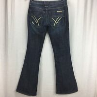 William Rast BELLE Flare Jeans Size 26 Factory Distressed