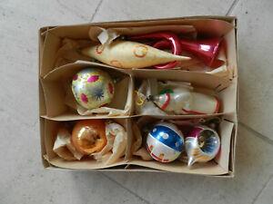 boite de décorations de Noel ancienne verre superbe