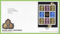 G.B. 2009 Royal Navy Uniforms Blk. pane on Royal Mail First Day Cover Portsmouth