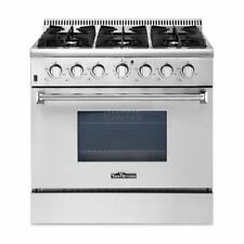 Thor Kitchen 36'' Gas Range 6 Burner with Oven Stainless Steel freestanding