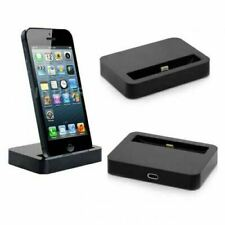 Caricabatterie e docking station neri con lightning per cellulari e palmari per Apple