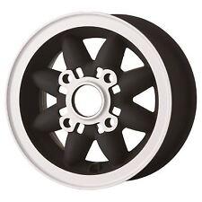 """4.75"""" X 10"""" Negro Mate Rosepetal ruedas de 4 X 101.6 PCD Classic Mini Conjunto de 4"""