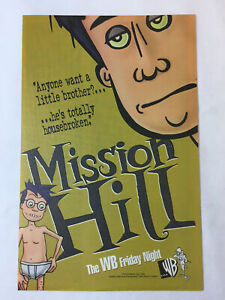 1999 WB tv ad page ~ animated series MISSION HILL