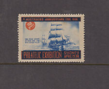 Australia 1938 (-) Blue & Red Anniversary PHILATELIC EXHIB SYDNEY Cinderella MNG