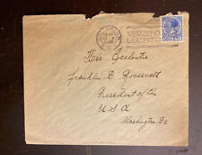 1935 Dutch Airmail Cover Addressed To US President Franklin Roosevelt