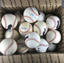 Lot of 22 Professional and Major League Baseballs with Blemishes