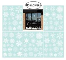 5 X Snowflake Window Clings Christmas Window Decorations 34 Different Snowflakes
