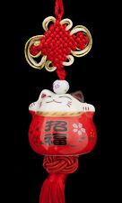Suspension Maneki Neko-chat Japonais- Porte Bonheur-grand Modele -483-SD1