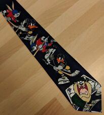 Foto Novità Cravatta Looney Tunes Taz Daffy Duck & BUGS BUNNY a giocare a Hockey su ghiaccio