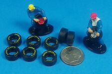 "HO Slot Car Tomy Life-Like Goodyear Rubber Tires ""MORE SHOW THAN GO"" 8 Tire Lot"