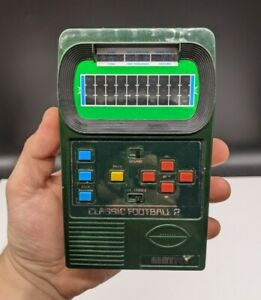 MATTEL Classic Football 2 Handheld Electronic Game Sound 2002 Travel Game