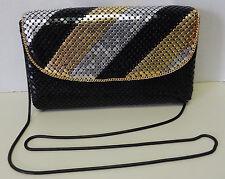 Jessica Stevens Mesh Metal Sequence Envelope Clutch Handbag Shoulder Bag Purse
