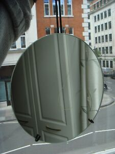 New Moebe Black Steel Round Frameless Circular Wall Mirror Danish Design Company