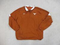 Nike Texas Longhorns Jacket Adult Large Orange White UT Football Coat Mens *