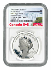 2020 Canada 1oz Ultra High Relief Silver Peace Dollar $1 NGC PF69 UC FR SKU58753