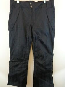 Columbia Women Omni Tech Ski Snowboard Pants Sz XL Black Insulated Waterproof