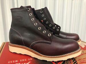 "Chippewa Bradford Casual Boots 6"" Cordovan Leather 11.5 1901M16 USA Vibram Dress"