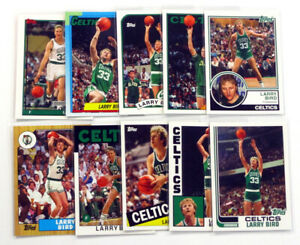 2006-07 Topps Larry Bird The Missing Years Basketball Insert Set (10) Boston