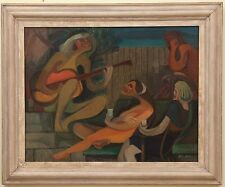RARE California Modernist JOHN HALEY Oil Painting Berleley SFMOMA - MUSEUM PIECE