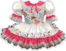"""Adriana"" CUSTOM FIT Lacy Satin Princess Adult LG Baby Sissy Dress LEANNE"