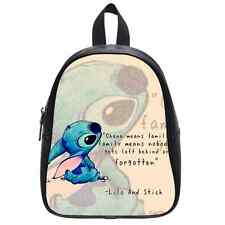 Lilo and Stitch Cartoon Ohana Quote Kid's School Bag Durable Shoulders Backpack