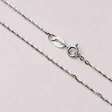 Genuine Pure Solid 925 Sterling Silver Flash Chain Necklace All Sizes Stamped