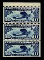 C10a Booklet Pane Nicely Centered, Mint, o,g., VF,  Never Hinged (cv$115.00)