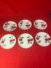 Vintage Blue Ridge Crab Apple Bread & Butter Plates Set 6