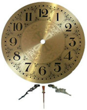 """Clarity Glass Design 7"""" Brass Clock Face w/ Hands for Stained Glass"""