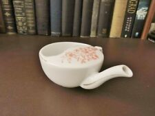 19th c Porcelain Feeder / Invalid Cup - Red Flowers & Gilt Decoration