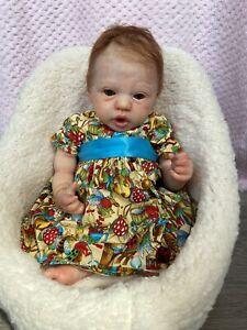 """Reborn Eloisa Ginger Baby Girl 18"""" By Lynne Hamilton At Nanna's Little Poppets"""