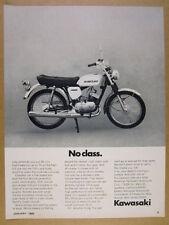1969 Kawasaki 90 cc 90cc Motorcycle photo vintage print Ad