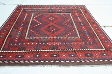 10'9 x 8' Vintage Handwoven Afghan Wool Kilim Carpet Tribal Kelim Area Rug #3670
