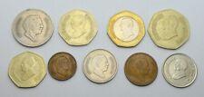 JORDAN LOT OF 9 DIFFERENT DINARS COINS