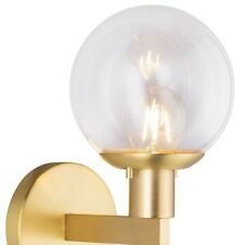 Sferra Wall Light Sconce with LED Edison Bulb Included. Antique Brass.